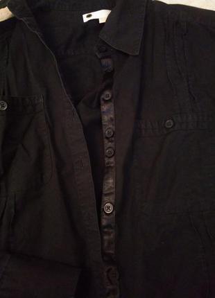 Рубашка чорна класична