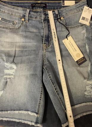 Шорты джинсовые u.s polo assn. размер 6 (36)стрейчевые