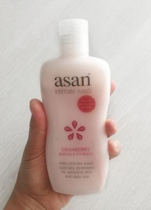 Крем - мыло для интимной гигиены , для чувствительной кожи , asan intimate wash