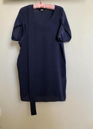 Платье шелк asos 10{s-m} с красивым рукавом