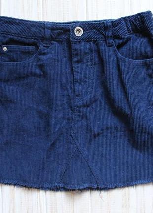 Вельветовая юбка zara на 7лет