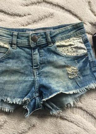 Стильные джинсовые шортики с завышенной талией fb sister