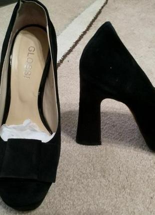 Замшевые туфли glossi