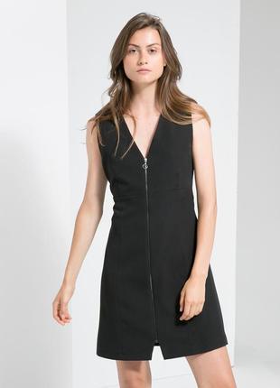 Идеальное черное платье сарафан mango