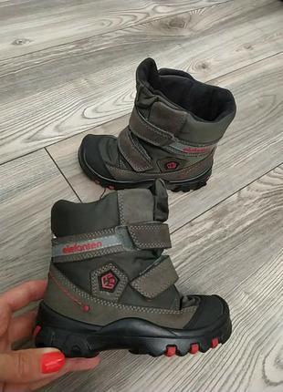 Теплые зимние фирменные ботинки сапожки