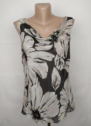 Блуза шелковая шикарная в принт с паетками 100% шёлк autograph uk 14/42/l