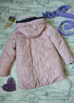 Зимняя куртка пуховик на девочку розовый кремовый