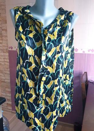 Шелковая пестрая блуза в цветочный принт luisa cerano оригинал