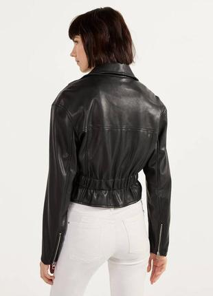 Куртка в байкер стиле с пясом bershka2 фото