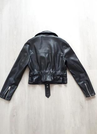 Куртка в байкер стиле с пясом bershka4 фото