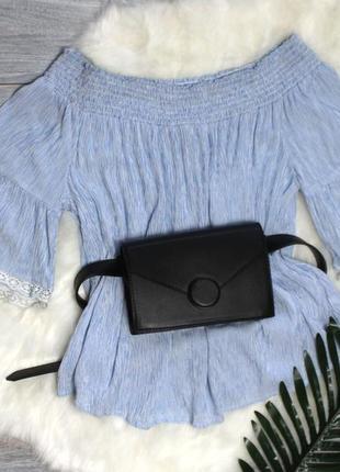 Блуза с расклешенными рукавами clockhouse