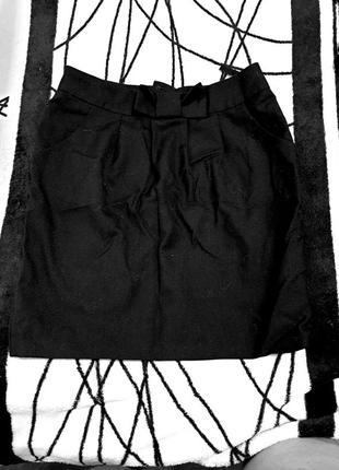 Юбка школьная на подкладке, черная