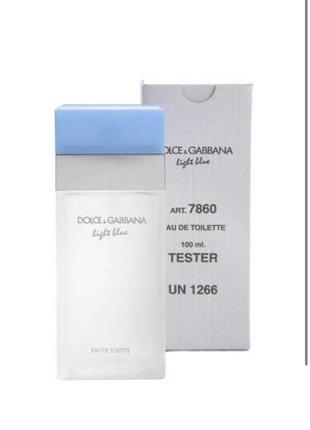 Тестер женский dolce&gabbana light blue, 100 мл лицензированные