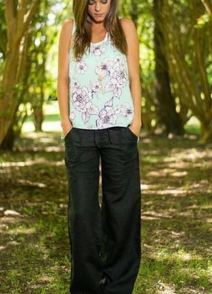 Льняные натуральные брюки размер 12-14 (44-46)