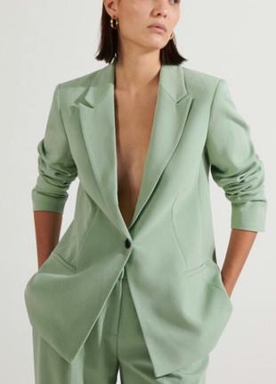 Шикарний оливковий подовжений піджак asos