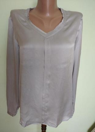 Брендова шёлковая,блуза,блузка louis &mia