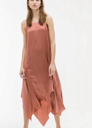 Шелковое платье uterqe