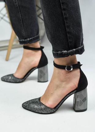 Туфлі markos 560345 серебристі