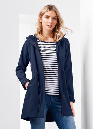 Крутое деми пальто куртка softshell на флисе s, м тсм tchibo.