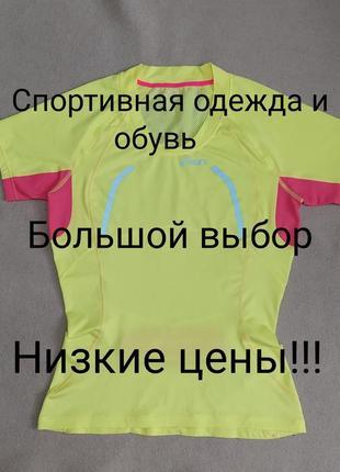 Asics оригинал спортивная футболка для спорта бега фитнеса  размер s m