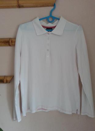 Блуза  белая с воротником esmara