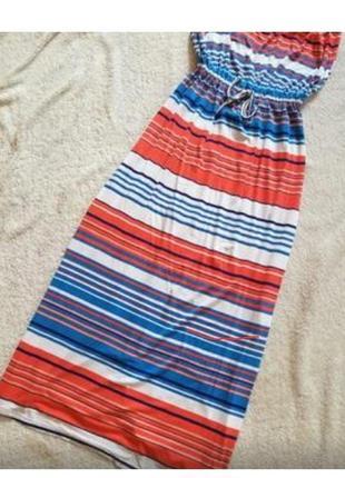 Сарафан без бретелей летний сарафан длинное платье