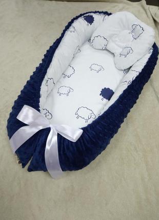 Дитячий кокон-гніздечко для новонародженних від 0-6міс бебінест позиціонер