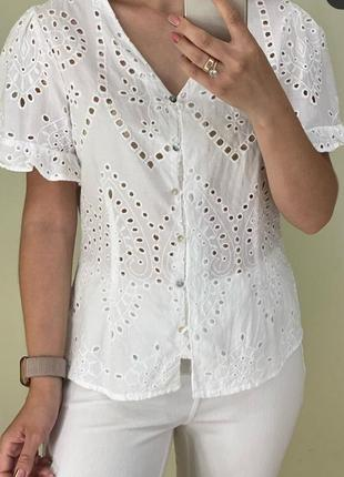 Белая блуза и прошви primark