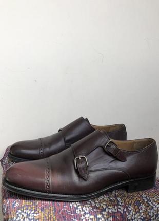 Баклажановые / бордовые кожаные классические мужские туфли caramelo2 фото