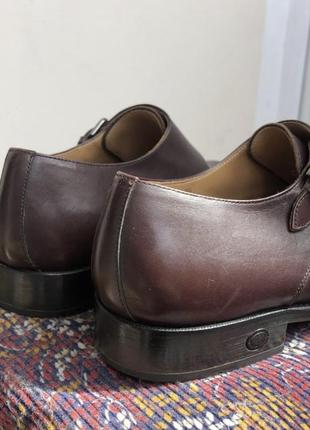 Баклажановые / бордовые кожаные классические мужские туфли caramelo7 фото