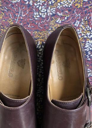 Баклажановые / бордовые кожаные классические мужские туфли caramelo4 фото