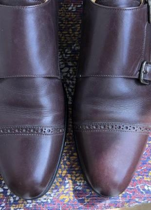 Баклажановые / бордовые кожаные классические мужские туфли caramelo5 фото