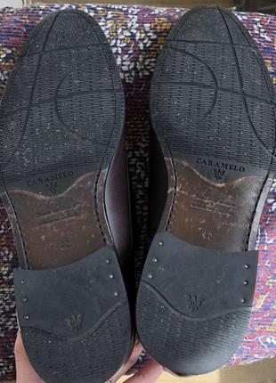 Баклажановые / бордовые кожаные классические мужские туфли caramelo9 фото