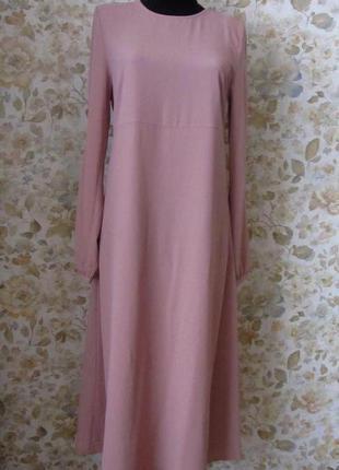 Платье миди цвета пыльной розы