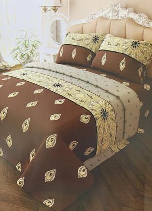 Полуторный комплект постельного белья, 100% хлопок
