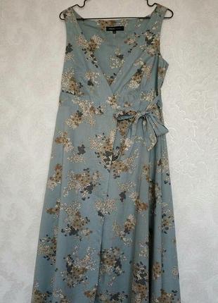 Шикарный сарафан, платье миди цветочный принт на запах бренда great plains, р.xs-s