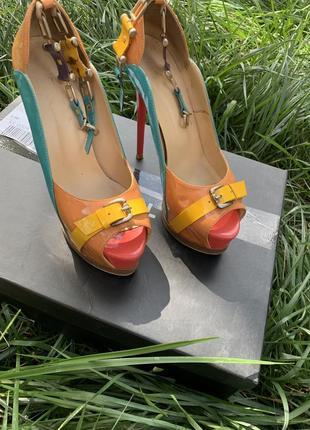 Босоножки туфли лак