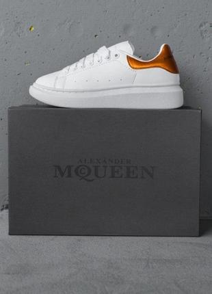 Кеды alexander mcqueen golden кроссовки белые с золотом
