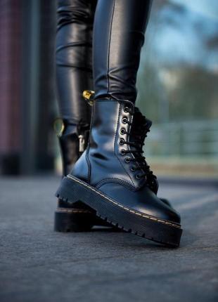 Женские ботинки dr. martens jadon (мех)