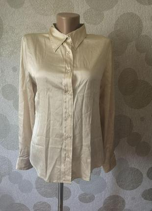 Шелковая рубашка блуза gap