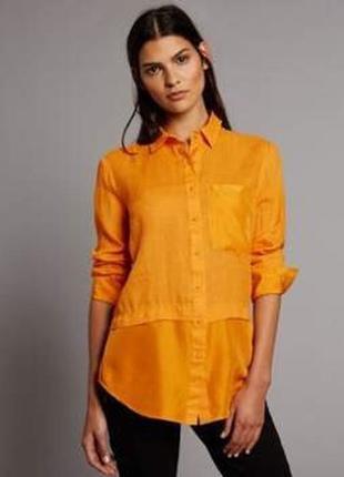 Рубашка яркая шелковая