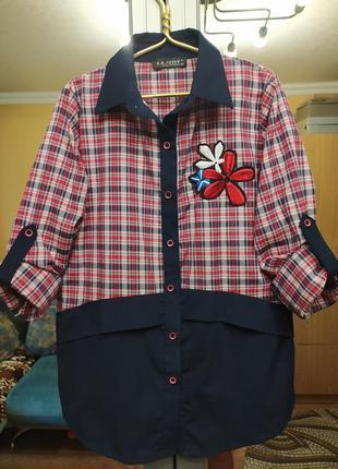 Стильная подростковая рубашка с вышивкой турция