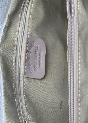 Кожаная роскошная белая сумка с принтом dalida италия8 фото