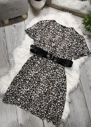 Платье в тигровый принт