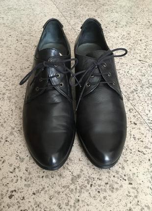 Ботинки туфли оксфорды натуральная кожа