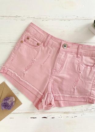 Розовые женские шорты с нормальной талией cropp town regular