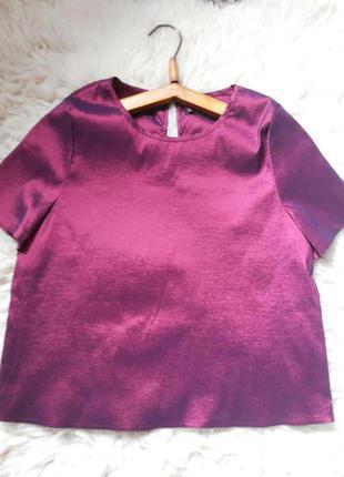 Укороченная блуза/топ/мойка qed london/в цвете вишня