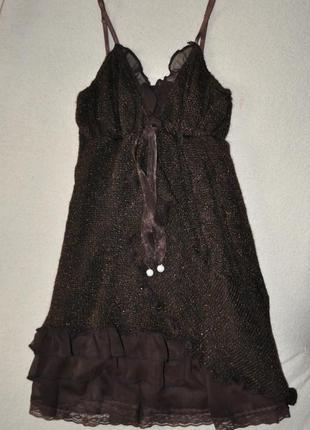 Коктейльный сарафан, платье на выпускной