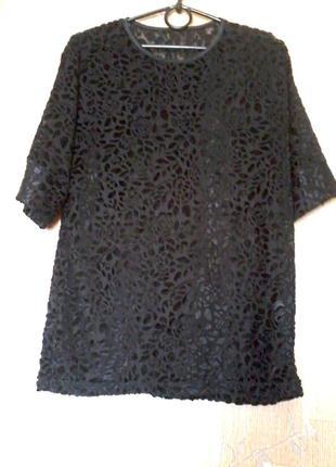 Шикарная велюровая бархатная на сеточке футболка кофточка