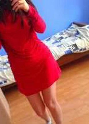 Платье мини. атлас (с)